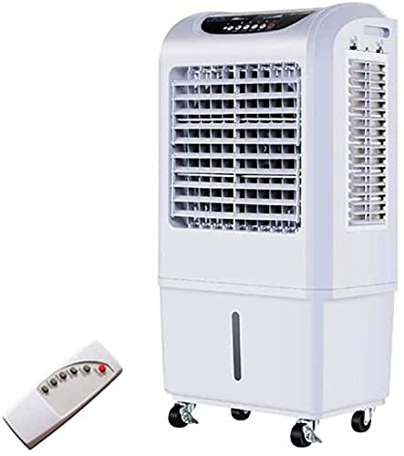 Fan Portable Air Cooler, Industrial Mobile Air Conditioner 3-in-1 Humidifier And Air Circulator 3rd Gear Adjustment 35L Water Tank Remote Remote Control
