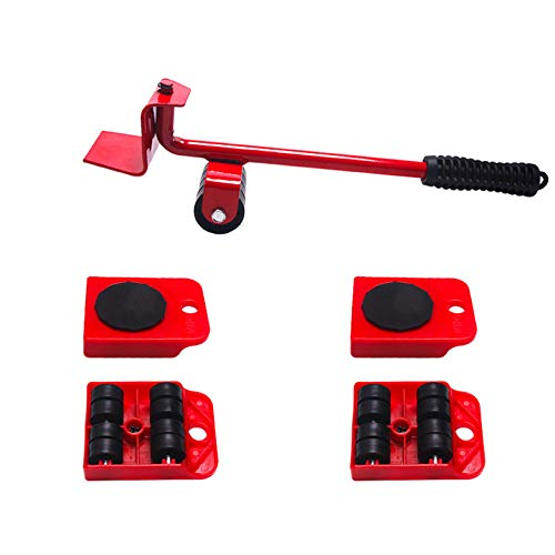 Yinuoday Möbel Bewegliches Hebewerkzeug Möbelheber Tragbares Schweres Hebegerät mit 4 Schiebereglern für Sperrige Schwere Lasten in Der Werkstattgarage