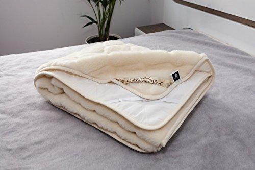 CARO 100% Australische Merino wol omkeerbare matras topper kasjmier wol onderdeken, CASHMERE onder BLANKET 120 x 200 cm WOOLMARKED. NATUURLIJKE BEDDING. Wol BEDDING. Geschikt als cadeau.