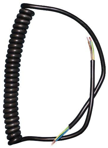 Spiralkabel schwarz 3-adrig Wendel gedreht Spiralleitung Leuchte Lampe Pendel 3x0,75qmm