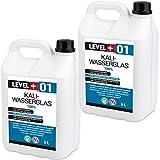 10 L Kaliwasserglas 100% Haftgrund Bindemittel Mauerabdichtung Wasserglas Wassersperre, Silikat RM01
