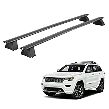 Roof Rack Cross bars Compatible for Jeep Grand Cherokee 2011-2019 - 165 lb Capacity Aluminum Roof Bars  OE Style No Drilling or Modification is Needed