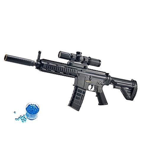 JINGYD Pistola de Juguete de Bomba de Agua, Rifle de Francotirador de Combate Militar Elite, Rifle de Francotirador de Juguete de Bomba de Agua CS para niños al Aire Libre +10000 Bomba de Agua