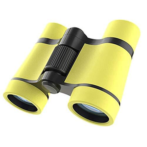 Fernglas 4X Wandern Unisex Geschenkaußen Spielzeug optisches Glas-Objektiv Camping Birding Teleskop Stoß- Mini Exploration Kinder Binoculars (Color : Yellow)