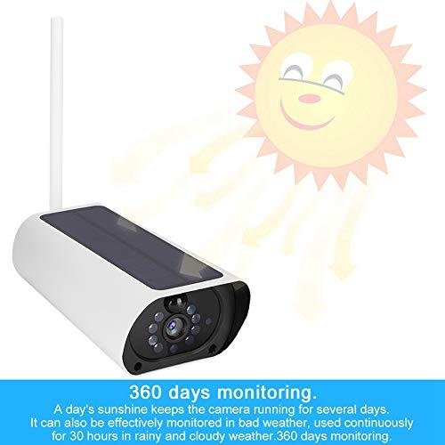IP-camera op zonne-energie, 1080P WIFI Waterdichte CCTV-nachtzichtcamera voor buitengebruik