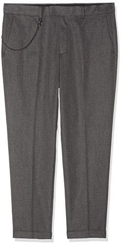 Burton Menswear London Carrot Fit Textured Trousers Pantaloni, Grigio (Dark Grey 150), W32 / L32 Uomo