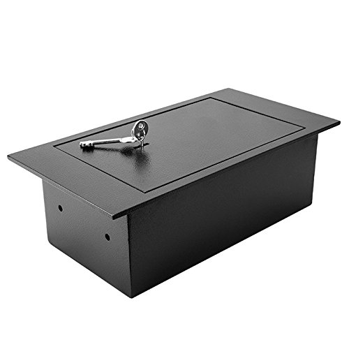 WinBest Solid Steel Floor Safe with Key Lock 0.22 Cubic Ft Storage