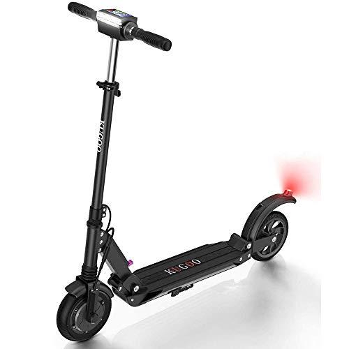 Patiente eléctrico Kugoo S1 Scooter eléctrico Plegable Motor 350W Pantalla LCD 3 Modos de Velocidad 30 km/h-Negro