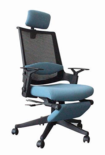 Ergonomische stoel, bureaustoelen, mesh stoel, draagvermogen meer dan 350 lb, ademende hoge rug mesh bureaustoelen (blauw)