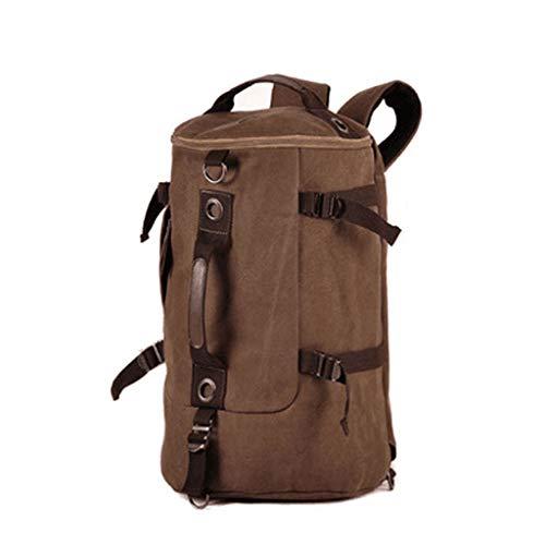 LTJLWB-backpack Sac à Dos MâLe Loisirs De Voyage en Plein Air Grande Capacité Portable Tube Multi-Fonction Tube Sac Toile Sac D'Ordinateur Portable 15 Pouces