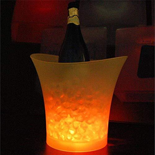 COLiJOL 5L Led Barras de Discoteca Ice Light Champagne Bucket Beer Bucket Free Wine Rack Holder L Enfriadores para Bolsa de Bebidas, Estados Unidos, Color, Azul
