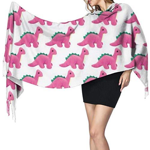 gardenia store Schal Schal Wraps Pink Dinosaurs Silhouettes Großer Schal Superweiche Warme Luxuriöse Für Frauen Büroangestellte Reisen