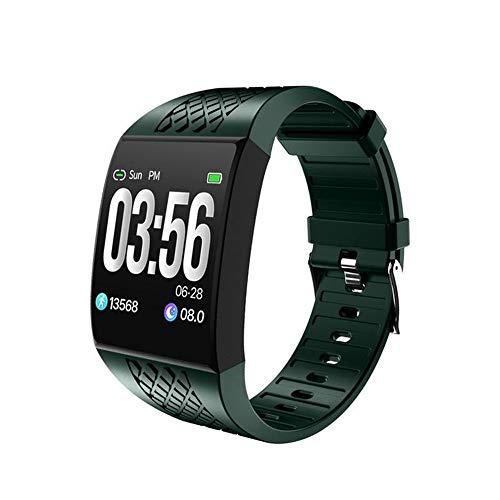 Muñequeras inteligentes de pantalla grande curvada, pulsera de fitness, control remoto, cámara de música, reloj inteligente, diseño ergonómico, rastreador de actividad (verde)