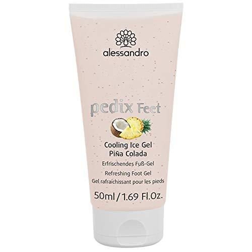 alessandro Pedix Cooling Ice Gel Pina Colada - Erfrischendes Fuß-Gel Mit Kokosduft, 50 g