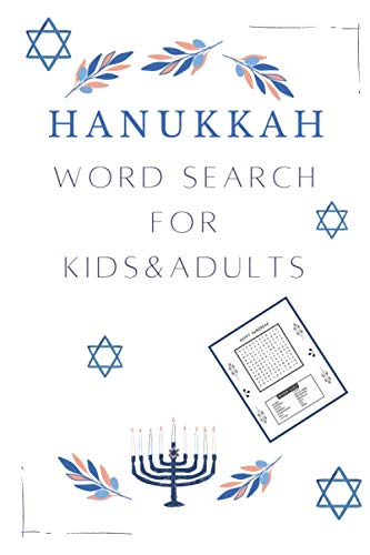 Hanukkah Word Search For Kids And Adults: Celebrate Festival of Lights With Family, Activity Book With Brain Games Puzzle Book