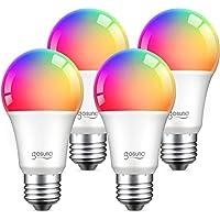 4-Pack Alexa Smart Light 75W Equivalent E26 Bulbs