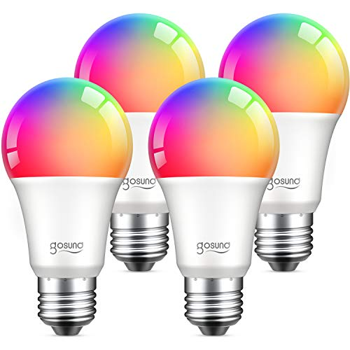 Alexa Smart Light Bulbs, Gosund 75W Equivalent E26 8W WiFi Led Bulb A19 RGB Color Changing Light...