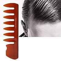 カラフルな男性の歯の櫛家庭用サロンの男性のための日常生活のための広い歯の櫛(brown)