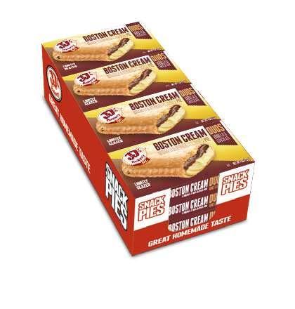 JJ#039s Bakery Snack Pie Duos Boston Cream Kosher Parve NutFree Facility Pack of 12