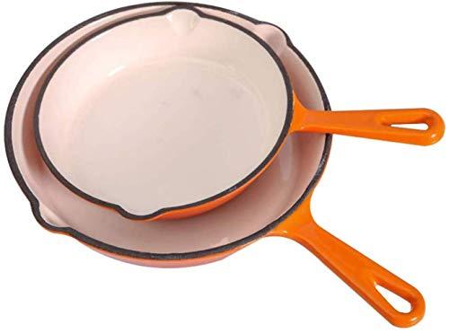 Art Jian Poêle en Fonte, poêle, Petit déjeuner Omelette à Fond Plat-Steak Wok ustensiles de Cuisson Universel, résistant à la Chaleur, Cuisinière Universelle