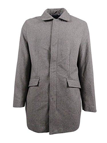 Perry Ellis Mens Wool Overcoat Coat Gray XL