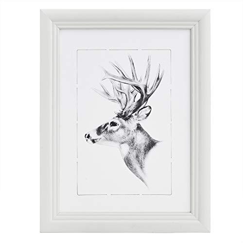 WOLTU Bilderrahmen Fotogalerie, Holz Rahmen, Glasscheibe, Artos Stil (Weiß, 20x30cm), 9428