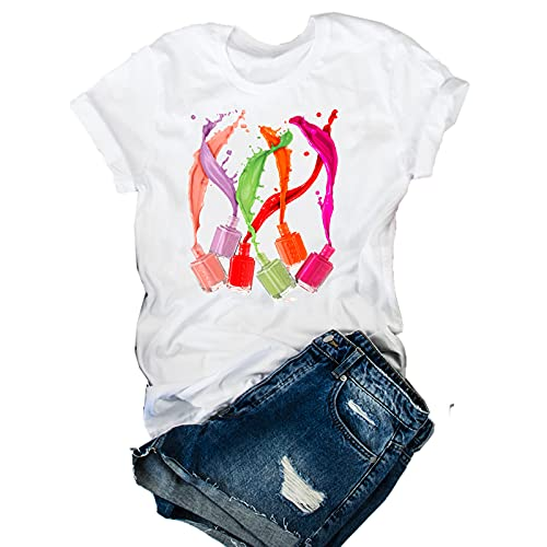 shirts Damen-T-Shirt mit 3D-Druck, 90er-Jahre, Vogue Gr. L, Cz21118