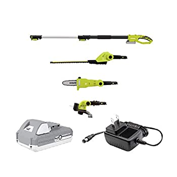 Sun Joe GTS4002C Cordless Lawn Care System-Hedge Trimmer Pole Saw Grass Trimmer