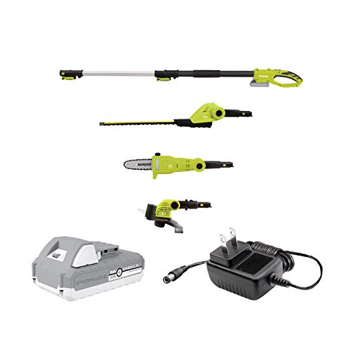 Sun Joe GTS4002C Cordless Lawn Care System-Hedge Trimmer, Pole Saw, Grass Trimmer