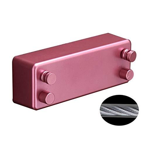 SHUAISHUAI Secador de Aluminio de tendedero Invisible retráctil con Cuerda de Cuerda Ajustable Dropshipping Herramienta de Secado de Ropa Duradera (Color : PK)