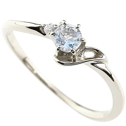 [アトラス]Atrus 指輪 レディース プラチナ ブルームーンストーン ダイヤモンド イニシャル ネーム J ピンキーリング 華奢リング アルファベット6月誕生石 人気 22号