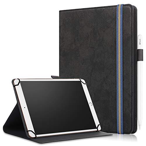 XTstore Funda Universal para Tablet de 9-10.1', Carcasa Flip Case Cubierta Protectora para iPad 2018,Galaxy Tab A6 10.1/Tab E 9.6',Huawei MediaPad T3 T5/M5 Lite 10, Lenovo Tab4 10/TB-X103F, Negro