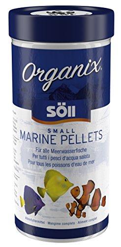 Söll Organix Small Marine Pellets - Feines Fischfutter für Meerwasserfische und Aquarienfische, Proteine und Vitamine für natürliche Ernährung im Aquarium