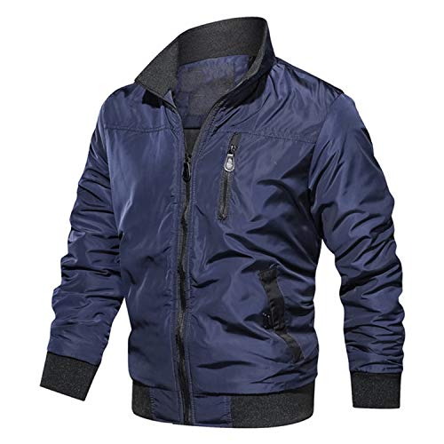 Rita Boyle - Chaqueta cortavientos para hombre, chaqueta de piloto de avin, para otoo, para hombre, de la Fuerza Area masculina, chaqueta militar para motocicleta