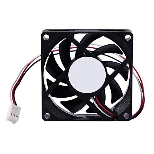 Gesh Ventilador de refrigeración para PC de 12 V, 7 cm, 70 mm