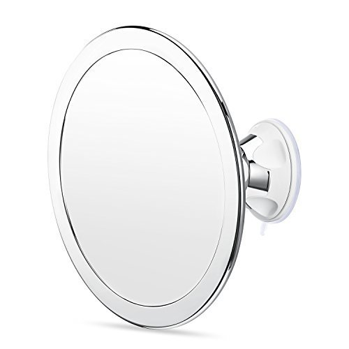 Charmax 6.5 Inch Large Fogless Shower Mirror, Bonus Razor Holder, No Fog Shaving Mirror for Bathroom, Chrome
