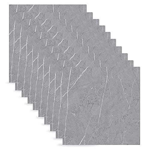 10 azulejos autoadhesivos de mármol para el suelo, de PVC, para baño, cocina, salón, dormitorio, 30 cm x 30 cm (8518)