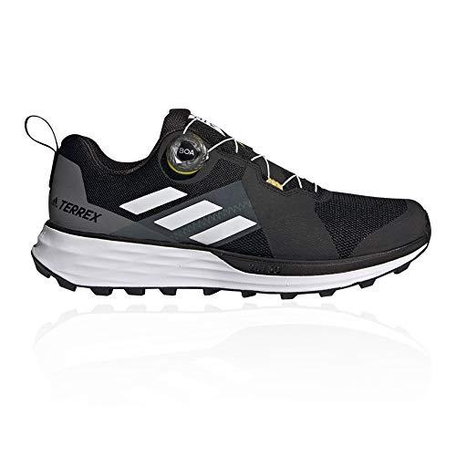 adidas Terrex Two Boa, Zapatillas de Trail Running Hombre, NEGBÁS/Balcri/Amasol, 45 1/3 EU