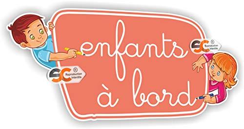 SC ® - Sticker/Autocollant - Enfants à bord - Bébé à bord - Fabrication Française (Modèle 2)