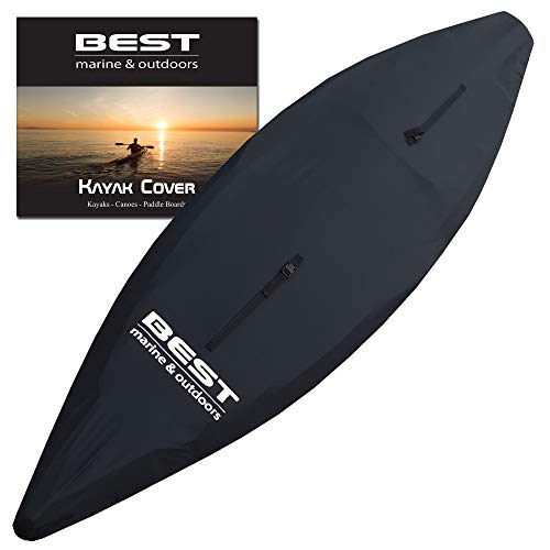 Best Marine Kayak Cover (L) Accessories for Indoor/Outdoor Storage. Durable Water Repellent Covers That Protect Your Kayaks and Cockpit from Debris and Water. Works with SUP Paddle Boards