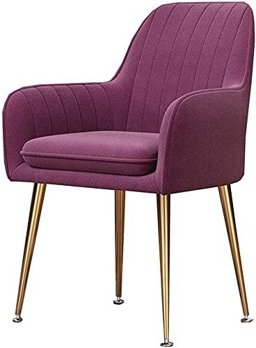 VEESYV Silla de comedor de terciopelo, para cocina, sala de estar, cojín suave, patas de metal, antideslizante, color T6