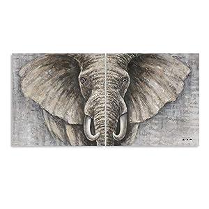 "B BLINGBLING Elephant Wall Art Bathroom Decor: African Animals Canvas Artwork Painting Print Decor 2 Sets with Frame (24""x24""x2Panels)"