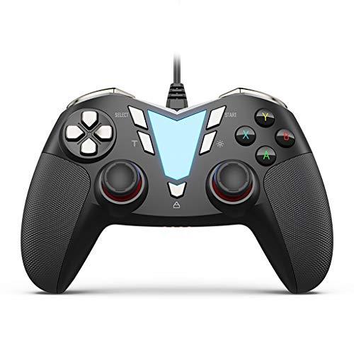 PC Manette Wired Contrôleur De Jeu PC, USB Filaire Gaming Gamepad Joystick Compatible avec L'ordinateur/Portable (Windows 10/8/7 / XP), Android (Téléphone/Tablette/TV/Box) PS3
