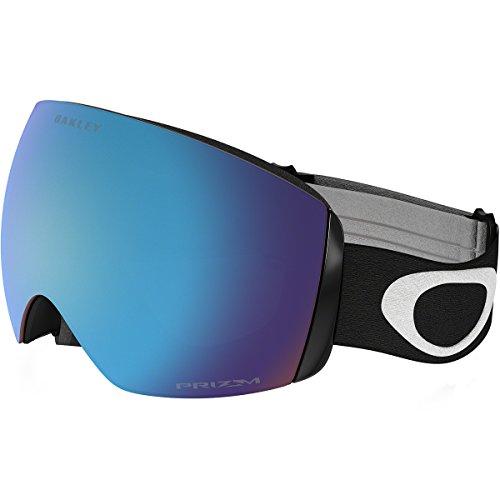 Oakley Flight Deck XM   Gafas de esquí/snowboard, Blanco Mate (Matte White)   (con logo blanco, banda negra y lente prizm zafiro iridio), Talla Única