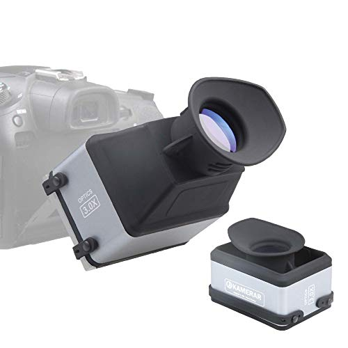 """Kamerar CVF-1 Collapsible LCD Viewfinder 3X Magnifier for 3.0"""" and 3.2"""" DSRL Camera LCD Screen for Canon, Nikon, Pentax, Sony DSLR, Camera Screen Sunshade Hood"""