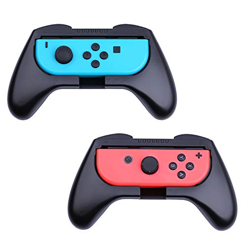 HEYSTOP Nintendo Switch Joy-con Grips (2 Piezas), Mando Joycon Grip Kit, Funda Protector Handle Kits para Mandos Joy-con Set de Nintendo Switch Controller