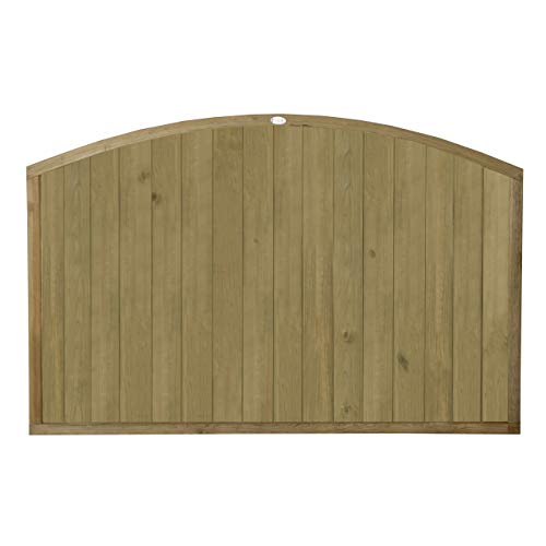 Forest Garden Forest Fence, Dome Top T&G Panel, 4ft (Pack of 3)