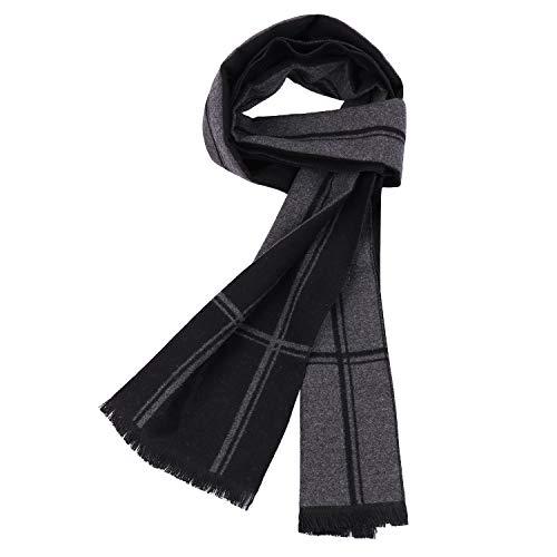 Herren Schal Warm Herbst und Winter Schal Classic und Elegant Plaid Schals