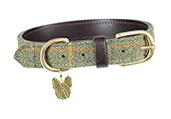 Classic countryside style for mans best friend An attractive, leather lined tweed collar that will ensure your dog looks super smart wherever they go The tweed trims are complimented by conker brown accents