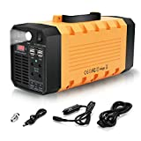 LVYUAN Portable Solar Generator 500W 288WH UPS Power Station Emergency Battery Backup Power Supply Charged by Solar/AC Outlet/Car for CPAP Laptop Home Camping